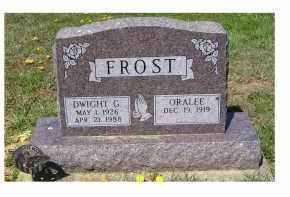 FROST, DWIGHT G. - Adams County, Ohio | DWIGHT G. FROST - Ohio Gravestone Photos