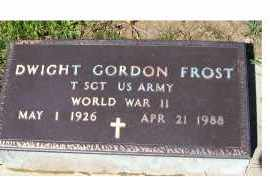 FROST, DWIGHT GORDON - Adams County, Ohio | DWIGHT GORDON FROST - Ohio Gravestone Photos