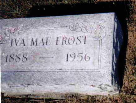 FROST, IVA MAE - Adams County, Ohio | IVA MAE FROST - Ohio Gravestone Photos