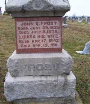 FROST, JOHN Q. - Adams County, Ohio | JOHN Q. FROST - Ohio Gravestone Photos