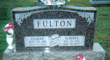 FULTON, EUGENE - Adams County, Ohio | EUGENE FULTON - Ohio Gravestone Photos