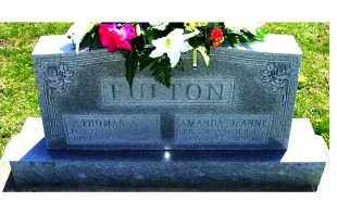 FULTON, THOMAS A. - Adams County, Ohio | THOMAS A. FULTON - Ohio Gravestone Photos