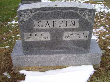 GAFFIN, JOHN N. - Adams County, Ohio | JOHN N. GAFFIN - Ohio Gravestone Photos