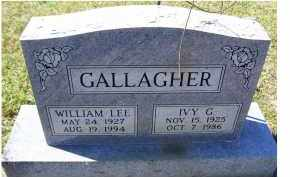 GALLAGHER, WILLIAM LEE - Adams County, Ohio | WILLIAM LEE GALLAGHER - Ohio Gravestone Photos