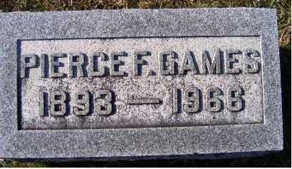 GAMES, PIERCE F. - Adams County, Ohio | PIERCE F. GAMES - Ohio Gravestone Photos