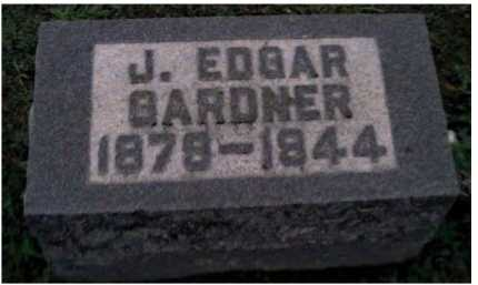 GARDNER, J. EDGAR - Adams County, Ohio | J. EDGAR GARDNER - Ohio Gravestone Photos