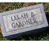 GARDNER, LELAH B. - Adams County, Ohio | LELAH B. GARDNER - Ohio Gravestone Photos