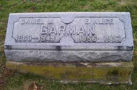 GARMAN, DANIEL M. - Adams County, Ohio | DANIEL M. GARMAN - Ohio Gravestone Photos