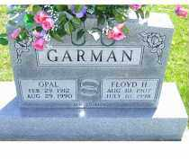 GARMAN, FLOYD H. - Adams County, Ohio | FLOYD H. GARMAN - Ohio Gravestone Photos