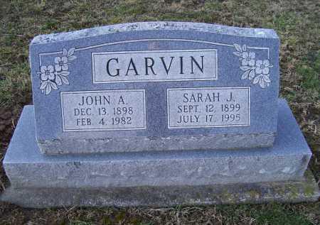 GARVIN, SARAH J. - Adams County, Ohio | SARAH J. GARVIN - Ohio Gravestone Photos