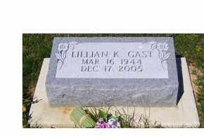 GAST, LILLIAN K. - Adams County, Ohio | LILLIAN K. GAST - Ohio Gravestone Photos