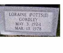 GORDLEY, LORAINE (POTTSIE) - Adams County, Ohio | LORAINE (POTTSIE) GORDLEY - Ohio Gravestone Photos