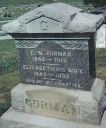 GORMAN, ELIZABETH - Adams County, Ohio | ELIZABETH GORMAN - Ohio Gravestone Photos
