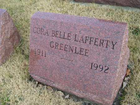 LAFFERTY GREENLEE, CORA BELLE - Adams County, Ohio | CORA BELLE LAFFERTY GREENLEE - Ohio Gravestone Photos