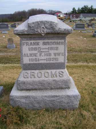 GROOMS, FRANK - Adams County, Ohio | FRANK GROOMS - Ohio Gravestone Photos