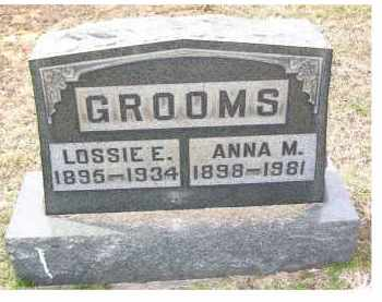 GROOMS, LOSSIE E. - Adams County, Ohio | LOSSIE E. GROOMS - Ohio Gravestone Photos