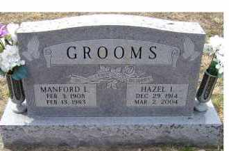 GROOMS, MANFORD L. - Adams County, Ohio | MANFORD L. GROOMS - Ohio Gravestone Photos