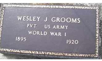 GROOMS, WESLEY J. - Adams County, Ohio | WESLEY J. GROOMS - Ohio Gravestone Photos