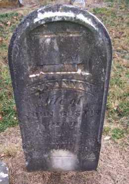 GUSTIN, SUSANNAH - Adams County, Ohio | SUSANNAH GUSTIN - Ohio Gravestone Photos