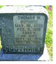 GUTHRIE, THOMAS W. - Adams County, Ohio | THOMAS W. GUTHRIE - Ohio Gravestone Photos