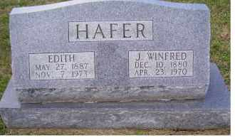 HAFER, EDITH - Adams County, Ohio | EDITH HAFER - Ohio Gravestone Photos