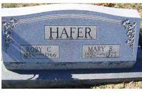 HAFER, MARY B. - Adams County, Ohio | MARY B. HAFER - Ohio Gravestone Photos