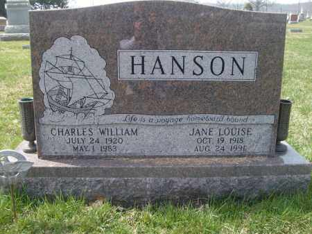 HANSON, CHARLES WILLIAM - Adams County, Ohio | CHARLES WILLIAM HANSON - Ohio Gravestone Photos