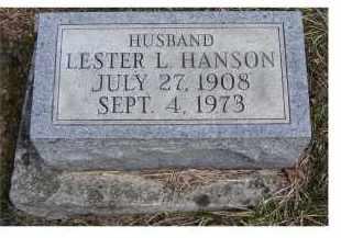 HANSON, LESTER L. - Adams County, Ohio | LESTER L. HANSON - Ohio Gravestone Photos
