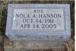HANSON, NOLA A. - Adams County, Ohio | NOLA A. HANSON - Ohio Gravestone Photos
