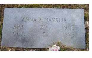 HAYSLIP, ANNA P. - Adams County, Ohio | ANNA P. HAYSLIP - Ohio Gravestone Photos