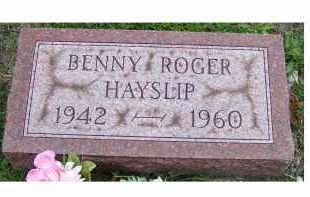 HAYSLIP, BENNY ROGER - Adams County, Ohio | BENNY ROGER HAYSLIP - Ohio Gravestone Photos