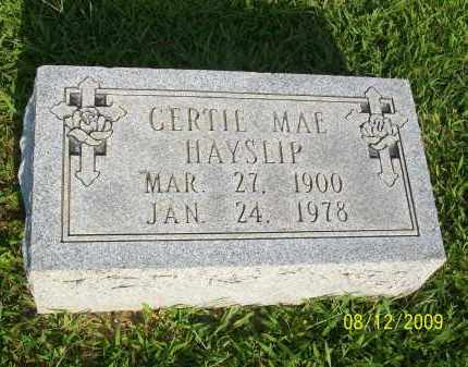 HAYSLIP, GERTIE MAE - Adams County, Ohio | GERTIE MAE HAYSLIP - Ohio Gravestone Photos