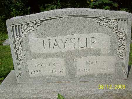 HAYSLIP, JOHN W - Adams County, Ohio | JOHN W HAYSLIP - Ohio Gravestone Photos