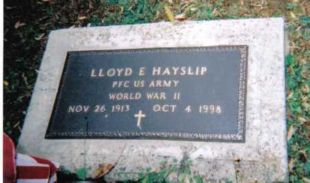 HAYSLIP, LLOYD E. - Adams County, Ohio | LLOYD E. HAYSLIP - Ohio Gravestone Photos