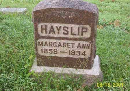 HAYSLIP, MARGARET ANN - Adams County, Ohio | MARGARET ANN HAYSLIP - Ohio Gravestone Photos