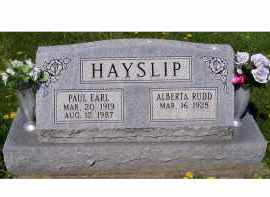 HAYSLIP, PAUL EARL - Adams County, Ohio | PAUL EARL HAYSLIP - Ohio Gravestone Photos