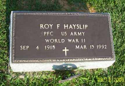 HAYSLIP, ROY F - Adams County, Ohio | ROY F HAYSLIP - Ohio Gravestone Photos