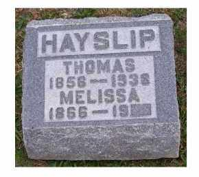 HAYSLIP, THOMAS - Adams County, Ohio | THOMAS HAYSLIP - Ohio Gravestone Photos