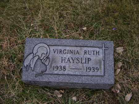 HAYSLIP, VIRGINIA RUTH - Adams County, Ohio | VIRGINIA RUTH HAYSLIP - Ohio Gravestone Photos