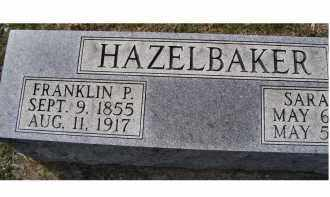HAZELBAKER, FRANKLIN  P. - Adams County, Ohio | FRANKLIN  P. HAZELBAKER - Ohio Gravestone Photos