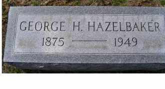 HAZELBAKER, GEORGE H. - Adams County, Ohio | GEORGE H. HAZELBAKER - Ohio Gravestone Photos