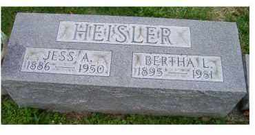 HEISLER, JESS A. - Adams County, Ohio | JESS A. HEISLER - Ohio Gravestone Photos