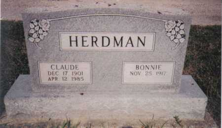 HERDMAN, CLAUDE - Adams County, Ohio | CLAUDE HERDMAN - Ohio Gravestone Photos