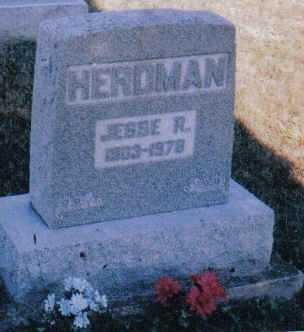 HERDMAN, JESSE R. - Adams County, Ohio | JESSE R. HERDMAN - Ohio Gravestone Photos