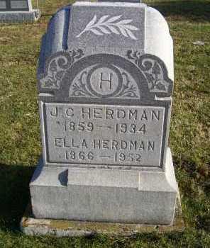 HERDMAN, ELLA - Adams County, Ohio | ELLA HERDMAN - Ohio Gravestone Photos