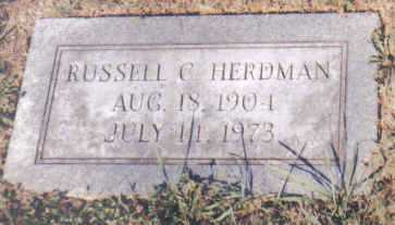 HERDMAN, RUSSELL C. - Adams County, Ohio | RUSSELL C. HERDMAN - Ohio Gravestone Photos