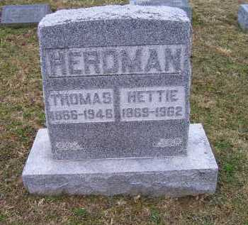 KENDALL HERDMAN, HETTIE - Adams County, Ohio | HETTIE KENDALL HERDMAN - Ohio Gravestone Photos