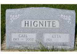 HIGNITE, ETTA - Adams County, Ohio | ETTA HIGNITE - Ohio Gravestone Photos