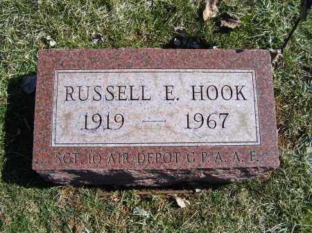 HOOK, RUSSELL E. - Adams County, Ohio | RUSSELL E. HOOK - Ohio Gravestone Photos