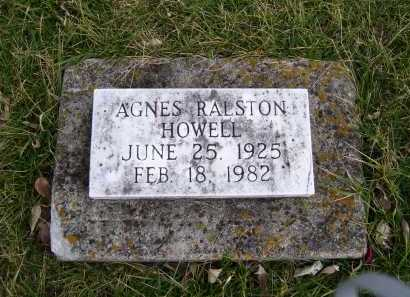 RALSTON HOWELL, AGNES - Adams County, Ohio | AGNES RALSTON HOWELL - Ohio Gravestone Photos